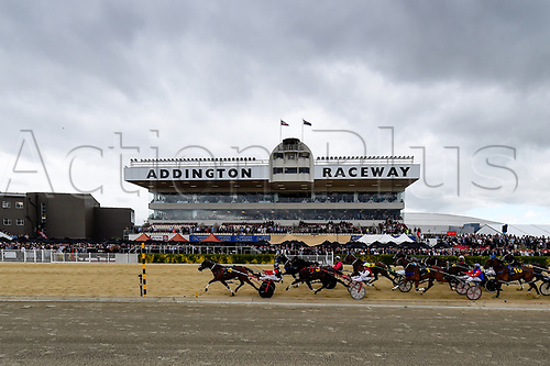 10th November 2020; Christchurch, New Zealand;  General View of the course during the NZ Trotting Cup at Addington Raceway, Christchurch, New Zealand