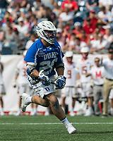 Foxborough, Massachusetts - May 26, 2018: NCAA Division I tournament semifinal. Duke University (blue/white) defeated University of Maryland (white), 13-8, at Gillette Stadium.