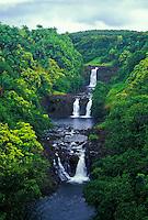 Beautiful Umauma Falls along the east coast of the Big Isle just north of Hilo.