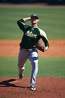 USF Bulls pitcher Collin Sullivan (15) delivers a pitch during live batting practice on February 11, 2017 at USF Baseball Stadium in Tampa, Florida.  (Mike Janes/Four Seam Images)