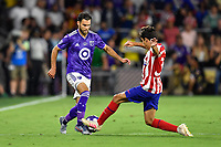 Orlando, FL - Wednesday July 31, 2019:  Graham Zusi #28, Manu Sánchez #35 during the Major League Soccer (MLS) All-Star match between the MLS All-Stars and Atletico Madrid at Exploria Stadium.