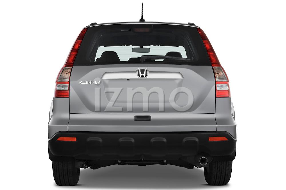 Straight rear view of a 2008 Honda CRV