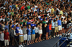 The class of 2014 sings the Alma Mater during the 2010 Orientation Mass...Photo by Matt Cashore/University of Notre Dame