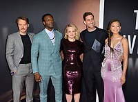 "LOS ANGELES, CA: 24, 2020: Michael Dorman, Aldis Hodge, Elisabeth Moss, Oliver Jackson-Cohen & Storm Reid at the premiere of ""The Invisible Man"" at the TCL Chinese Theatre.<br /> Picture: Paul Smith/Featureflash"