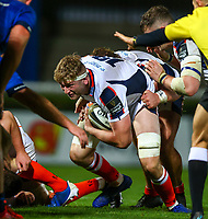 16th November 2020; RDS Arena, Dublin, Leinster, Ireland; Guinness Pro 14 Rugby, Leinster versus Edinburgh; Jamie Hodgson (Edinburgh) charges for the line close in