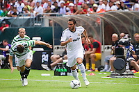 Gonzalo Higuain (20) of Real Madrid. Real Madrid defeated Celtic F. C. 2-0 during a 2012 Herbalife World Football Challenge match at Lincoln Financial Field in Philadelphia, PA, on August 11, 2012.
