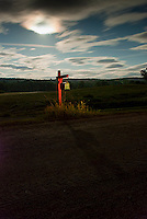 Mailbox on side of dirt road