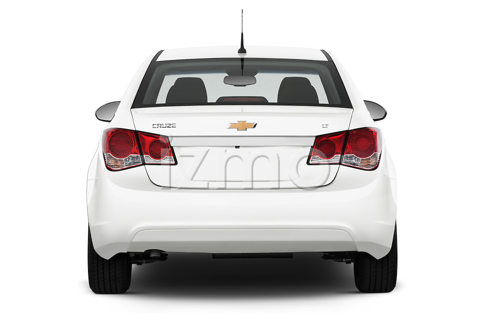 Straight rear view of a 2015 Chevrolet Cruze 4-Door Sedan 2LT Automatic 4 Door  Rear View  stock images
