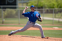 Chicago Cubs relief pitcher Ryan McNeil (35) delivers a pitch to the plate during an Extended Spring Training game against the Los Angeles Angels at Sloan Park on April 14, 2018 in Mesa, Arizona. (Zachary Lucy/Four Seam Images)