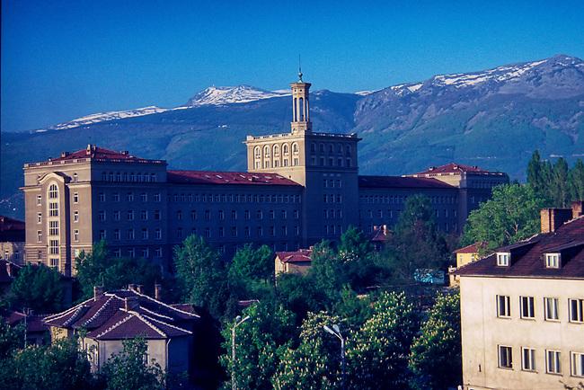 Mt. Vitosha & Mathematics Faculty from Velchova Zavera Square