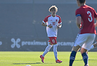 Tim Flick of Luxemburg pictured in action during a soccer game between the national teams Under17 Youth teams of  Norway and Luxemburg on day 2 in the Qualifying round in group 3 on saturday 9 th of October 2020  in Tubize , Belgium . PHOTO SPORTPIX   DAVID CATRY