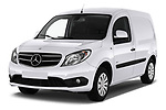 2019 Mercedes Benz Citan Perfect-Tool 5 Door Car Van Angular Front stock photos of front three quarter view