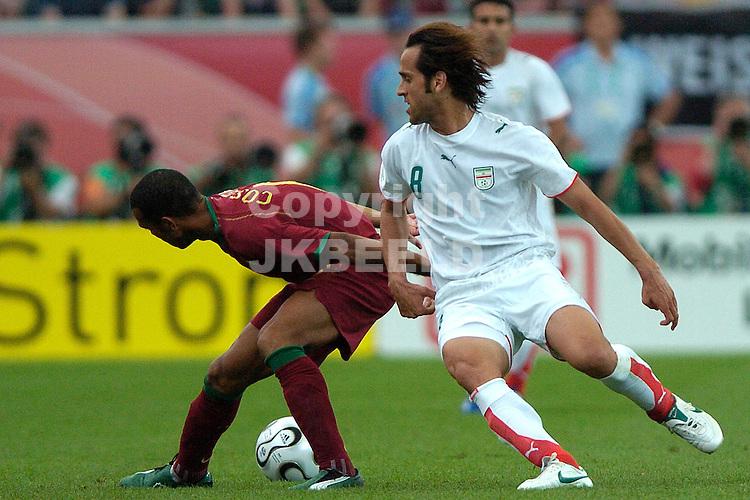 frankfurt, 17-06-2006, portugal - iran costinha met karimi