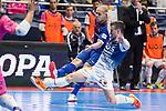 Barcelona Lassa Carlos Vagnerand R. Renov. Zaragoza Oscar Villanueva during Futsal Spanish Cup 2018 at Wizink Center in Madrid , Spain. March 16, 2018. (ALTERPHOTOS/Borja B.Hojas)