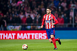Lucas Hernandez of Atletico de Madrid in action during the UEFA Europa League 2017-18 Round of 16 (1st leg) match between Atletico de Madrid and FC Lokomotiv Moscow at Wanda Metropolitano  on March 08 2018 in Madrid, Spain. Photo by Diego Souto / Power Sport Images