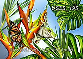 Lori, REALISTIC ANIMALS, REALISTISCHE TIERE, ANIMALES REALISTICOS, zeich, paintings+++++Frog and Butterfly,USLS195,#a#, EVERYDAY ,puzzle,puzzles