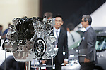 December 30, 2011, Tokyo, Japan - An engine is displayed during the 42nd Tokyo Motor Show. The show opens to the general public from December 3-11. (Photo by Christopher Jue/AFLO)
