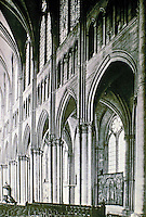 Reims Cathedral, Reims, France. Gothic style. Nave elevation.
