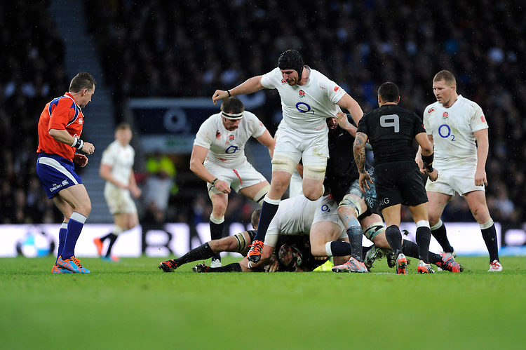 Ben Morgan of England in action during the QBE International match between England and New Zealand at Twickenham Stadium on Saturday 8th November 2014 (Photo by Rob Munro)