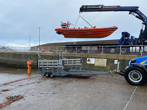 The delivery of the Bangor RNLI lifeboat after refit