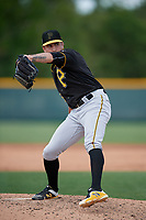 Pittsburgh Pirates Will Reed (15) during a minor league Spring Training game against the Philadelphia Phillies on March 13, 2019 at Pirate City in Bradenton, Florida.  (Mike Janes/Four Seam Images)