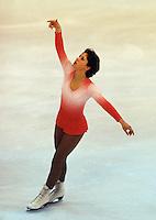 Denise Biellmann of Switzerland competes at the 1978 World Figure Skating Championships in Ottawa, Canada. Photo copyright Scott Grant.