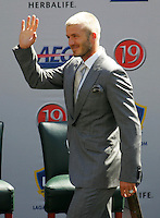 David Beckham at his LA Galaxy press conference at the Home Depot Center in Carson, California, Friday, July 13, 2007.