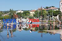 Nice le 22 Jiun 2016 Ambince Fan Zone Place Massena Le Miroir d'Eau Supporter Belge