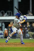 Jarred Kelenic (20) of the Kingsport Mets at bat against the Burlington Royals at Burlington Athletic Stadium on July 27, 2018 in Burlington, North Carolina. The Mets defeated the Royals 8-0.  (Brian Westerholt/Four Seam Images)