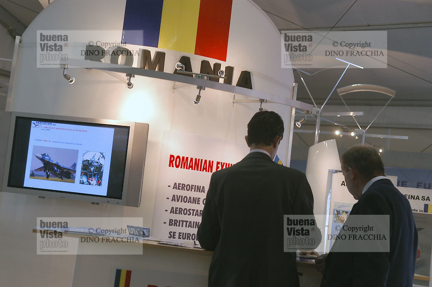 - stand aeronautical industry of Rumania....- stand industria aeronautica della Romania