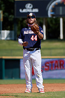 Third baseman Tommy White (44) during the Baseball Factory All-Star Classic at Dr. Pepper Ballpark on October 4, 2020 in Frisco, Texas.  Tommy White (44), a resident of St Pete Beach, Florida, attends IMG Academy.  (Mike Augustin/Four Seam Images)