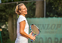 Hilversum, The Netherlands,  August 20, 2021,  Tulip Tennis Center, NKS, National Senior Tennis Championships, Women's doubles 50 + : Miriam Swarte (NED) <br /> Photo: Tennisimages/Henk Koster