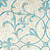 Marabel, a jewel glass mosaic shown in Aquamarine and Quartz, is part of the Silk Road® collection by New Ravenna.