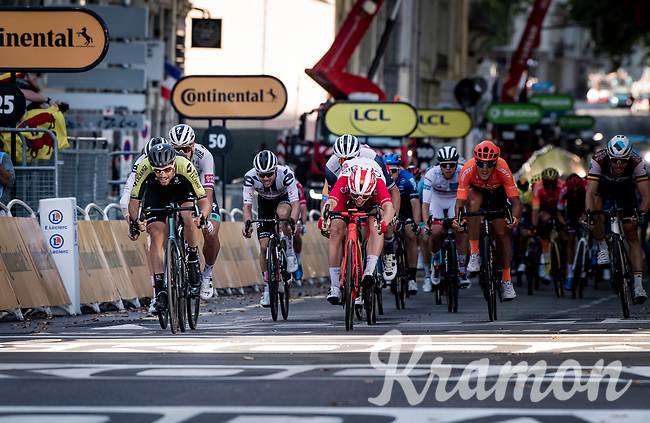Luka Mezgec (SLO/Mitchelton Scott) wins the bunch sprint for 2nd place<br /> <br /> Stage 14 from Clermont-Ferrand to Lyon (194km)<br /> <br /> 107th Tour de France 2020 (2.UWT)<br /> (the 'postponed edition' held in september)<br /> <br /> ©kramon