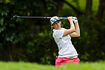 Anais Maggetti of Switzerland tees off during the first round of the EFG Hong Kong Ladies Open at the Hong Kong Golf Club Old Course on May 11, 2018 in Hong Kong. Photo by Marcio Rodrigo Machado / Power Sport Images