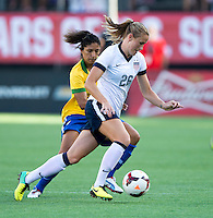 Leigh Ann Robinson, Cristiane.  The USWNT defeated Brazil, 4-1, at an international friendly at the Florida Citrus Bowl in Orlando, FL.