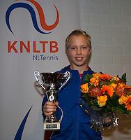 November 30, 2014, Almere, Tennis, Winter Youth Circuit, WJC,  Prizegiving,  Bastiaan Weststrate winner masters<br /> Photo: Henk Koster