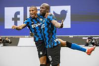 inter-sassuolo - milano 7 aprile 2021 - 28° giornata Campionato Serie A - nella foto: lukaku romelu esultanza gol 1-0