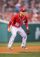 28 May 2016: Washington Nationals infielder Stephen Drew in action against the St. Louis Cardinals at Nationals Park in Washington, DC. The Cardinals defeated the Nationals 9-4 to take a 2-games to 1 lead in their 4-game series. Mandatory Credit: Ed Wolfstein Photo *** RAW (NEF) Image File Available ***