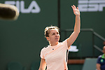 March 14, 2018: Simona Halep (ROU) defeated Petra Martic (CRO) 6-4, 6-7(5), 6-3 at the BNP Paribas Open played at the Indian Wells Tennis Garden in Indian Wells, California. ©Mal Taam/TennisClix/CSM