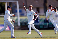Luke Wood of Lancashire celebrates taking the wicket of Joe Denly during Kent CCC vs Lancashire CCC, LV Insurance County Championship Group 3 Cricket at The Spitfire Ground on 23rd April 2021