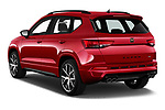 Car pictures of rear three quarter view of 2019 Cupra Ateca Xcellence 5 Door SUV Angular Rear