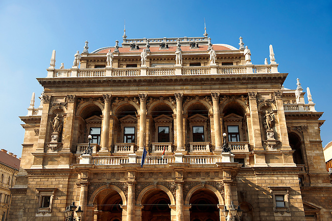 Hungarian State Opera House, Andrassy Boulavard, Budapest, Hungary