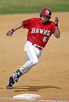 21 April 2007: University of Hartford Hawks' Greg Cinelli, a Freshman from Medford Lakes, NJ, in action during a double-header against the University of Vermont Catamounts at Historic Centennial Field, in Burlington, Vermont...Mandatory Photo Credit: Ed Wolfstein Photo