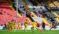 Lincoln City's James Jones take a free kick<br /> <br /> Photographer Chris Vaughan/CameraSport<br /> <br /> The EFL Sky Bet League One - Saturday 12th September 2020 - Lincoln City v Oxford United - LNER Stadium - Lincoln<br /> <br /> World Copyright © 2020 CameraSport. All rights reserved. 43 Linden Ave. Countesthorpe. Leicester. England. LE8 5PG - Tel: +44 (0) 116 277 4147 - admin@camerasport.com - www.camerasport.com - Lincoln City v Oxford United