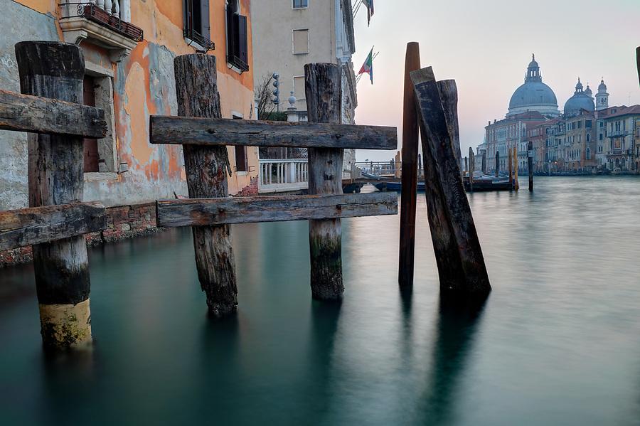 Morning breaks over Santa Maria della Salute and the Grand Canal, Venice, Italy