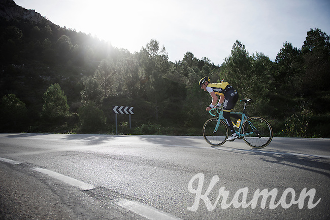 Jos van Emden (NLD/LottoNL-Jumbo) training up Coll de Rates (Alicante, Spain)<br /> <br /> January 2016 Training Camps