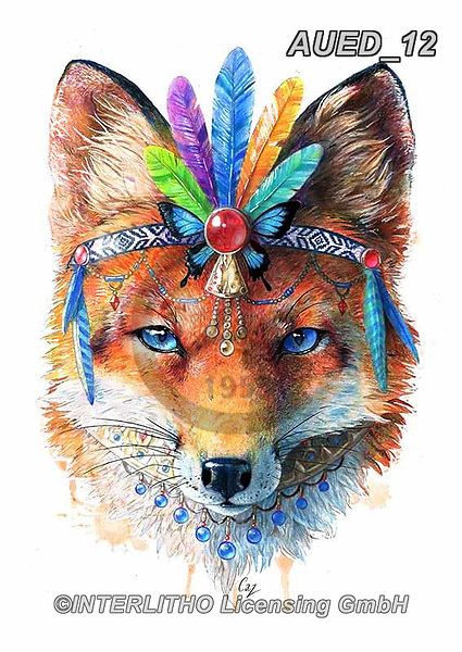 Carlie, REALISTIC ANIMALS, REALISTISCHE TIERE, ANIMALES REALISTICOS, paintings+++++Fox-Spirit-Animal,AUED12,#A#, EVERYDAY ,fantasy