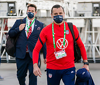 ORLANDO, FL - JANUARY 18: Vlatko Andonovski of the USWNT arrives at the stadium before a game between Colombia and USWNT at Exploria Stadium on January 18, 2021 in Orlando, Florida.
