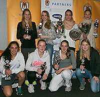 01-12-13,Netherlands, Almere,  National Tennis Center, Tennis, Winter Youth Circuit, Girls 16 years ,all finalists : <br /> Photo: Henk Koster